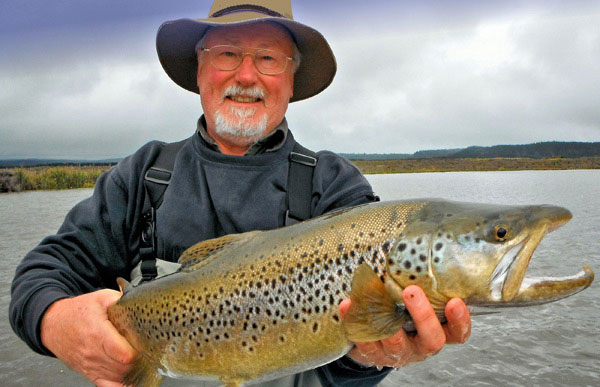 Julian took this fine brown trout in the Big Lake O