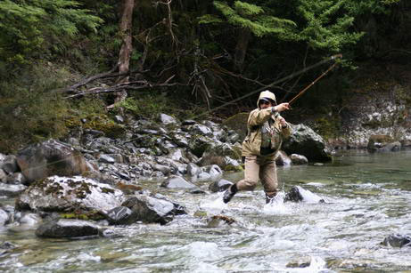 Summer Fly Fishing - Back Country action
